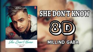 Gambar cover She don't know (8d/3d audio) | Millind gaba | T-SERIES.