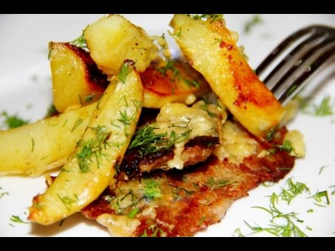 Картошка в духовке Кораблики с салом на сайте рецепт в