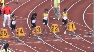 女子混合100公尺決賽第2組
