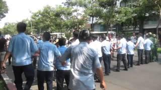 Biểu tình sáng 1/5/2016 tại Sài Gòn - Công an dàn trận ngăn chặn