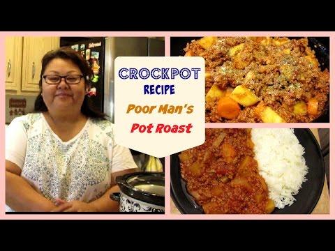 Crockpot Poor Man's Pot Roast Made With Ground Turkey