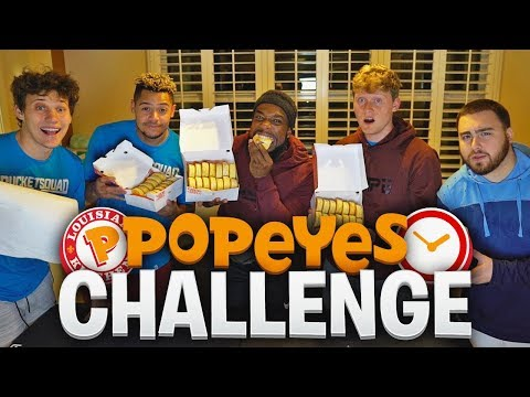 2HYPE! POPEYES BISCUITS WITHOUT WATER UNDER 5 MINS CHALLENGE! With Los,Zach,Jesser