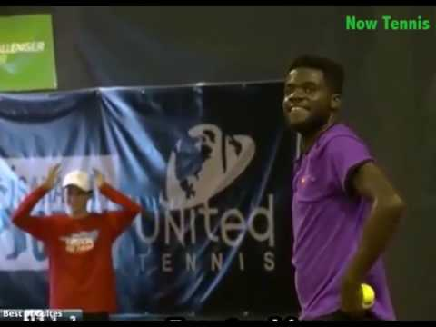 Thumbnail: Tiafoe and Krueger playing when suddenly... a couple started to scream