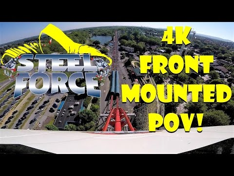 Steel Force - Dorney Park MOUNTED FRONT ROW POV IN 4K!!!