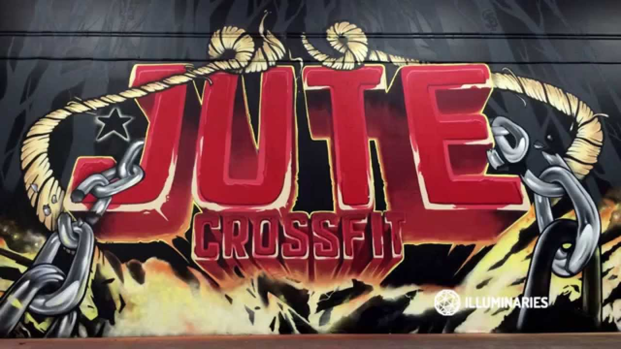 Jute Crossfit Graffiti Mural In Benicia CA Timelapse Video