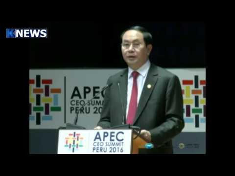 President Tran Dai Quang of Viet Nam at the 2016 APEC Economic Leaders Week in Lima, Peru