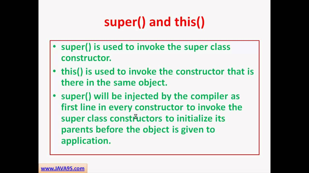 Java tutorial 13 constructors and object creation in java java tutorial 13 constructors and object creation in java java9s baditri Image collections