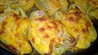 Перец фаршированный в духовке очень вкусное горячее блюдо.Домашняя Вкусняшка Рецепты