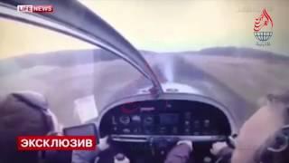 +18 توثق حادث سقوط الطائرة في روسيا حطم طائرة روسية ومقتل الطيار واصابة مساعدة