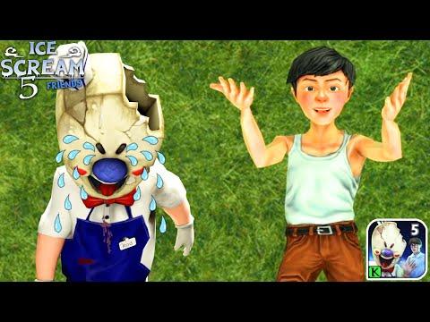 Видео: Прохождение Мороженщик 5 - Ice Scream 5 Friends
