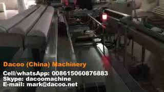 Toilet Paper Rolls Cutting and Packing Machines ( Auto Cutter + Single Roll Packing Machine )