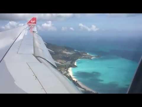 Virgin Atlantic VS33 - Airbus 330 LGW - ANU - Landing at Antigua's V C Bird International Airport