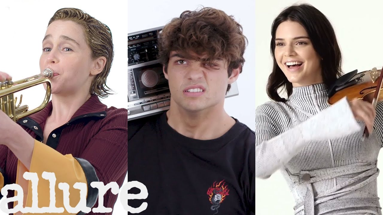 Emilia Clarke, Kendall Jenner and More Celebs Try Musical Things They've Never Done Before | Allure