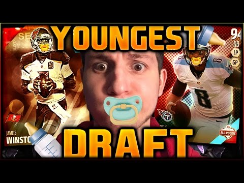 YOUNGEST PLAYER DRAFT! | ROOKIE'S FIRST STEPS!! MADDEN 16 DRAFT CHAMPIONS