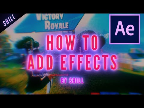 HOW TO ADD EFFECTS TO FORTNITE EDITS - Screen Pumps, Track Mattes, And Effects
