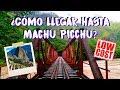 ¿A MACHU PICCHU EN TREN? ¿O CAMINANDO?🚞➖🚶♀️👣 | MPV en Cusco