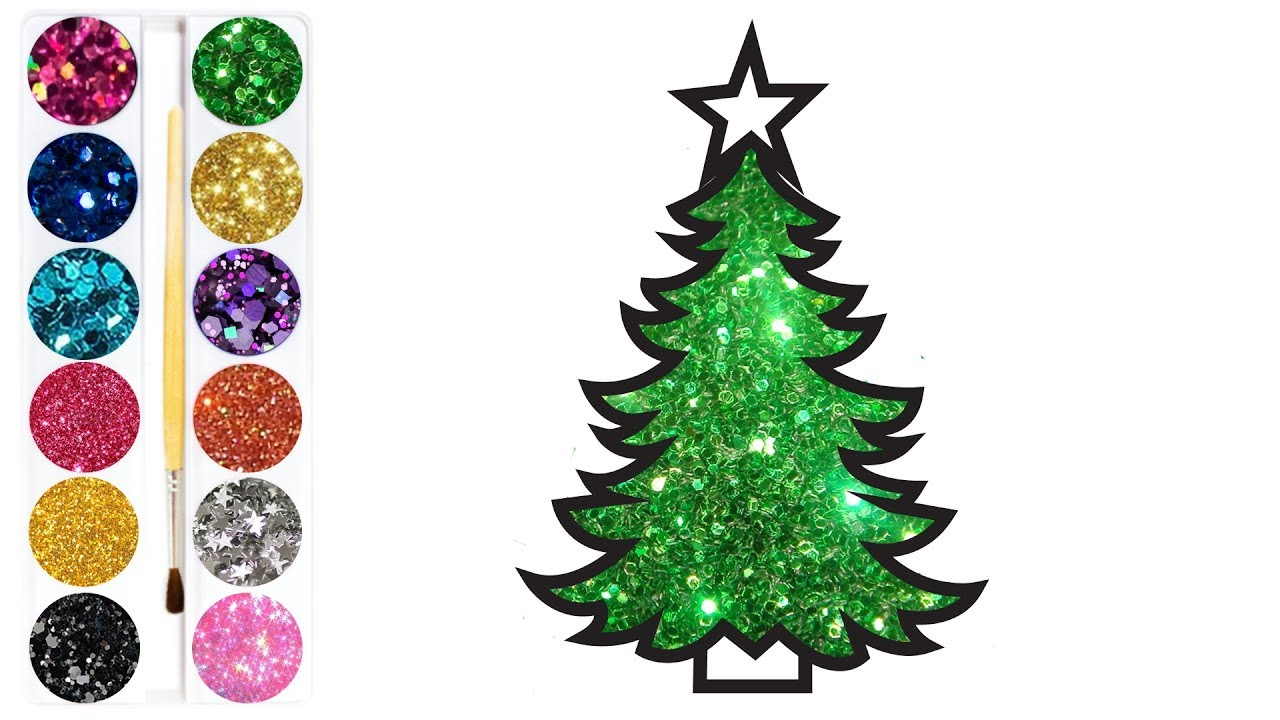 Coloring page of the Glitter Christmas tree | Beautiful COLORING ...