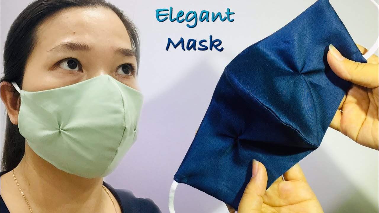 ☘️ NICE, GENTLE and ELEGANT  MASK with SILK fabric and hide thread sewing techniques