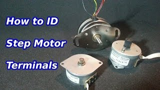 How to Identify the Terminals of a Stepper Motor