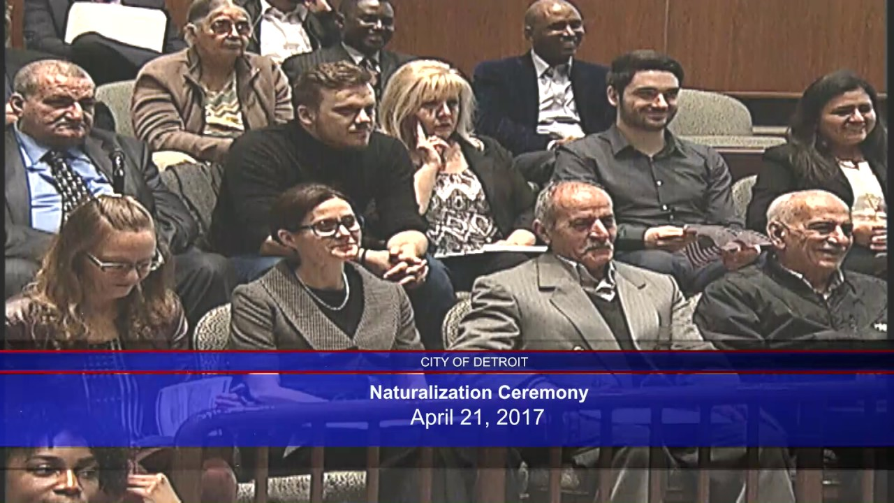 City of Detroit Naturalization Ceremony