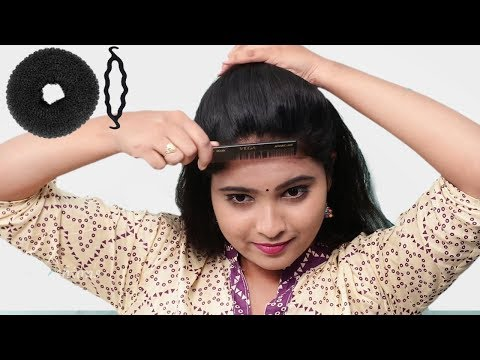 How to Cute Self Hairstyle for girls | Quick Bun Hairstyle for Party/wedding | Self Hairstyles thumbnail