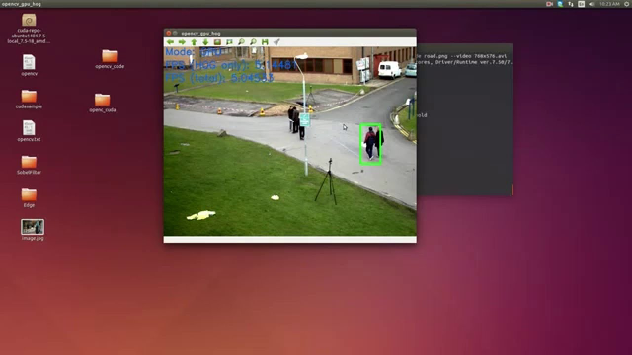 HOG Person Detection Sample : Opencv + Cuda - YouTube
