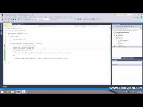 C# - Settings Dosyası Kullanımı