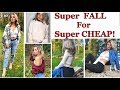 FALL TRY ON HAUL | Thrift haul, cheap and affordable fashion! 2018