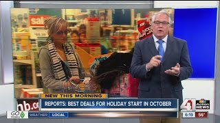 Report: Best deals for the holidays start in October