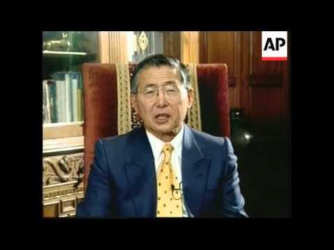 PERU: PRESIDENT FUJIMORI INTERVIEW