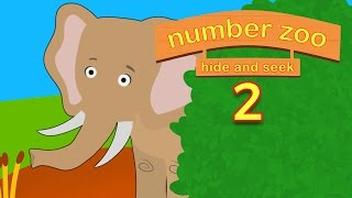 Number Zoo Hide and Seek Part 2 | Learn Animals For Kids