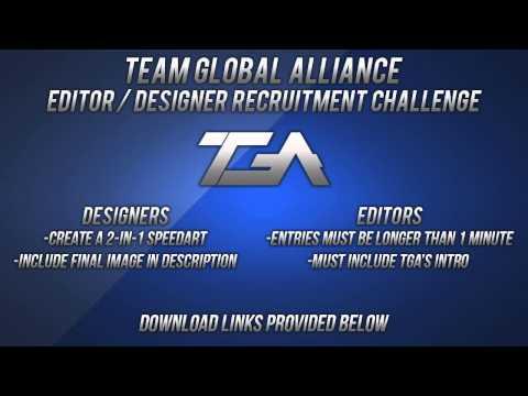 Team Global Alliance Editor / Designer Recruitment Challenge