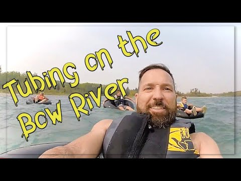 Floating down the Bow River near Cochrane