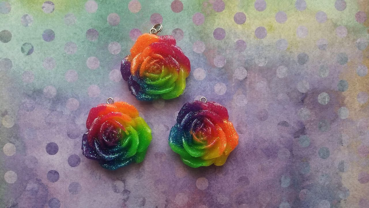 Rainbow Roses With Glitter