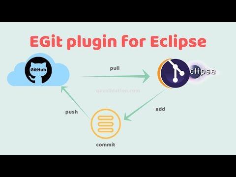 Git plugin for Eclipse - push pull through UI - qavalidation