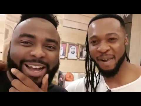 Flavour N'abania and VJ Adams caught up in Dubai: Most High, Ijele the Traveler and 2017