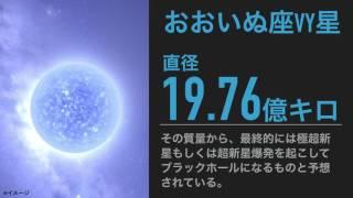 【ランキング TOP10】宇宙の巨星ランキング