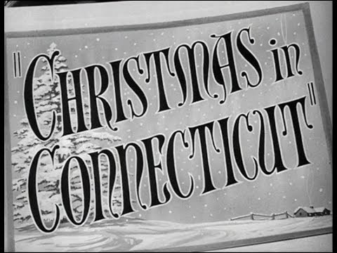 Christmas In Connecticut Movie.Classic Hollywood Movie Christmas In Connecticut