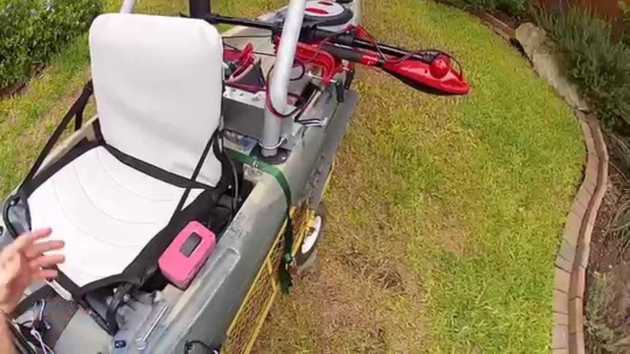 Kayak Trolling Motor Mount Pivoting Youtube