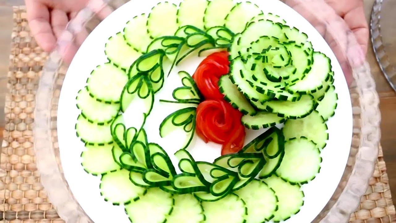 Super Salad Decoration Ideas Vegetable Plate Decoration Video For