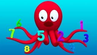 """Развивающий мультик """"Считаем с Полой"""" - цифры для детей. Цифра 8. История морских игрушек"""