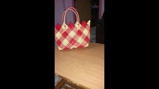 One Roll Plastic Wire  Cross Cut Koodai for Beginners | Wire Basket Weaving |Diagonally Woven Basket