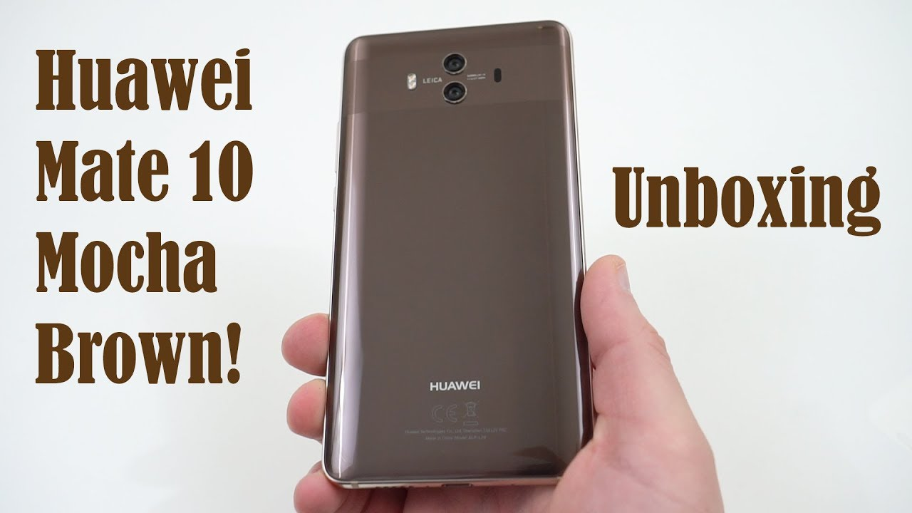 9a18920d068 Huawei Mate 10 Mocha Brown Unboxing: What Does Pro Mean? - YouTube