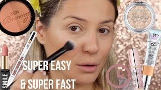 EASY & SUPERFAST MAKEUP WITH LESS PRODUCTS|| GIO DREVELI ||