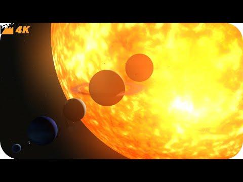 Solar System Size Comparison   4K 2019