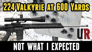224 Valkyrie At 600 Yards: Bolt Action VS AR 15 (Unexpected Results)