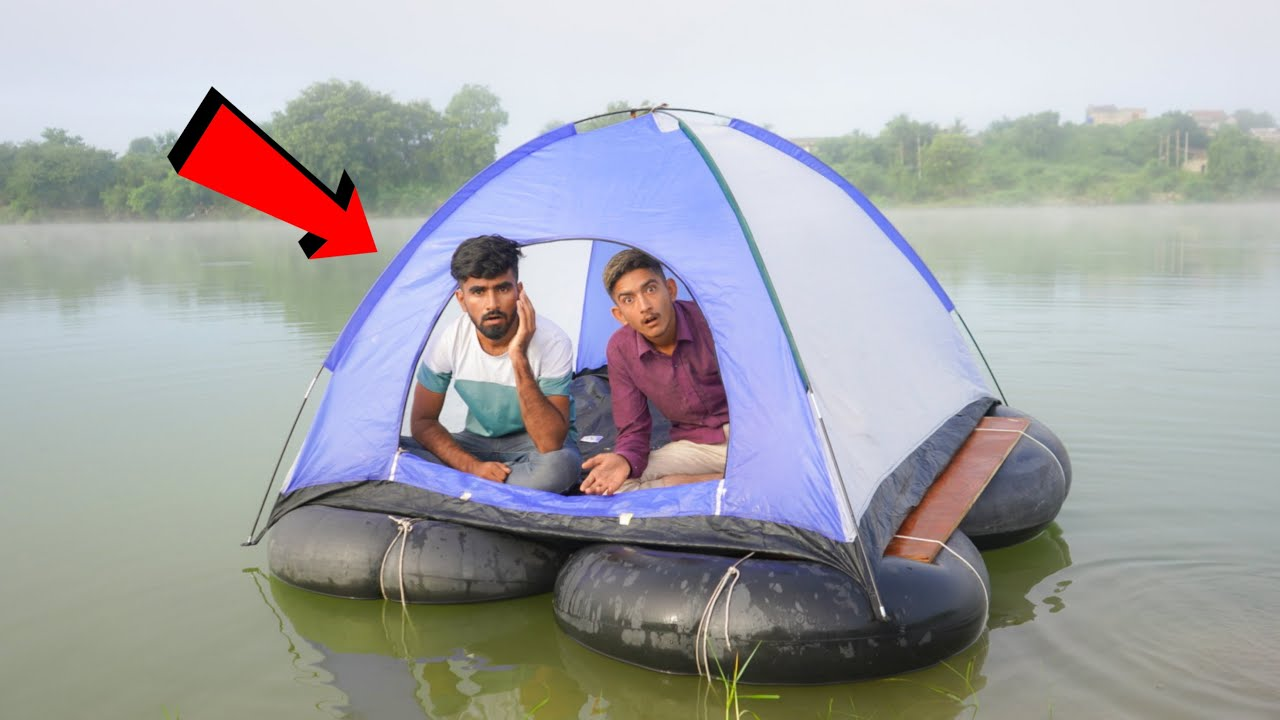 Camping Full Night Between Deep River - Most Hardest Challenge😱