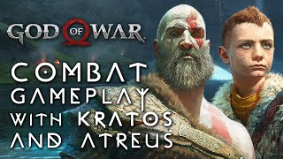 God of War - Combat Gameplay with Kratos and Atreus