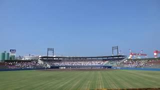 全早慶野球戦西条大会、試合開始直前の様子
