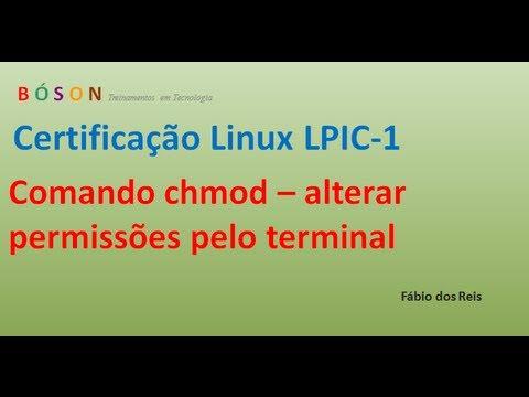 Comando chmod - Alterar permissões pelo terminal - Linux